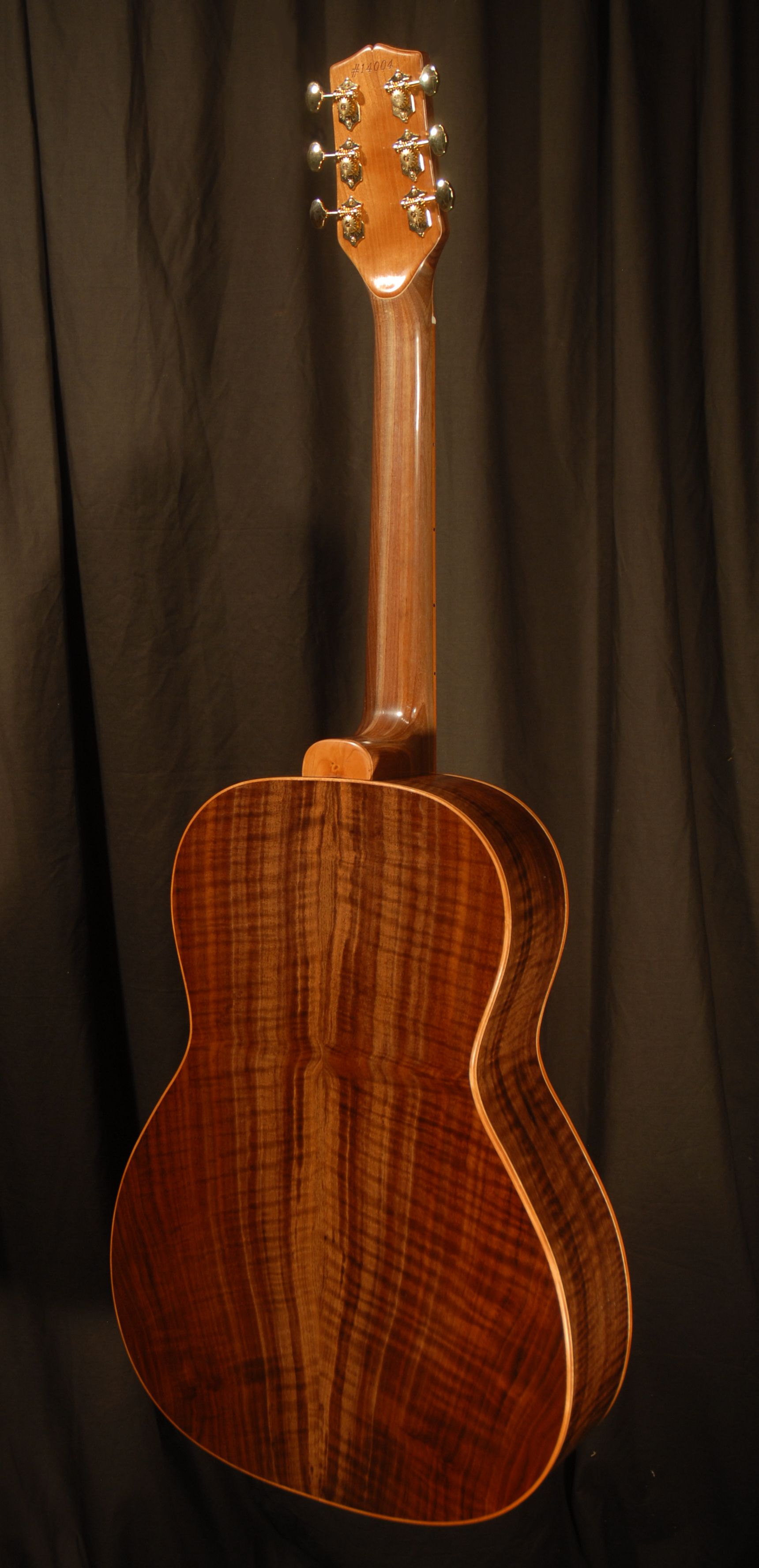 front view of the body of michael mccarten's 000-12 flat top guitar model