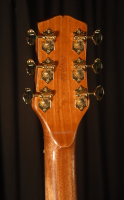 rear view of the headstock of michael mccarten's DC13 double cutaway electric guitar model