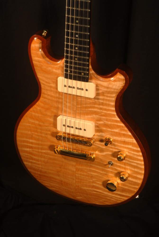 detailed front view of michael mccarten's DC13 double cutaway electric guitar model
