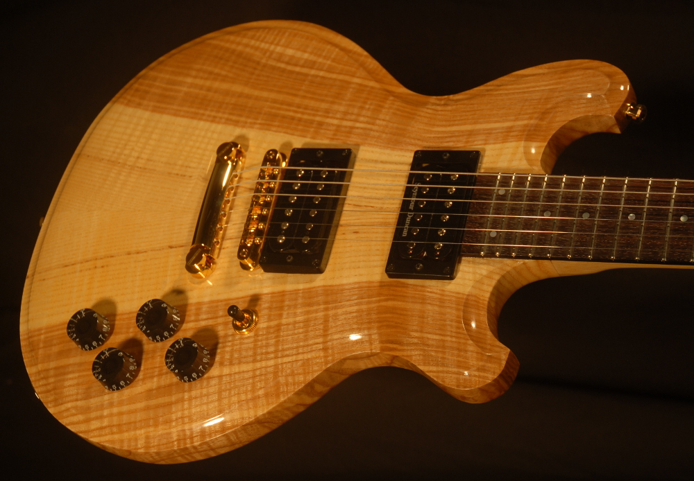 detailed front view of michael mccarten's DC13T thinline double cutaway electric guitar model