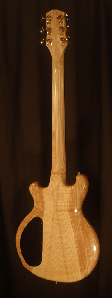 rear view of the body of michael mccarten's DC13T thinline double cutaway electric guitar model